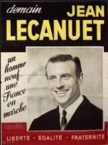Macron - Affiche Lecanuet 1965